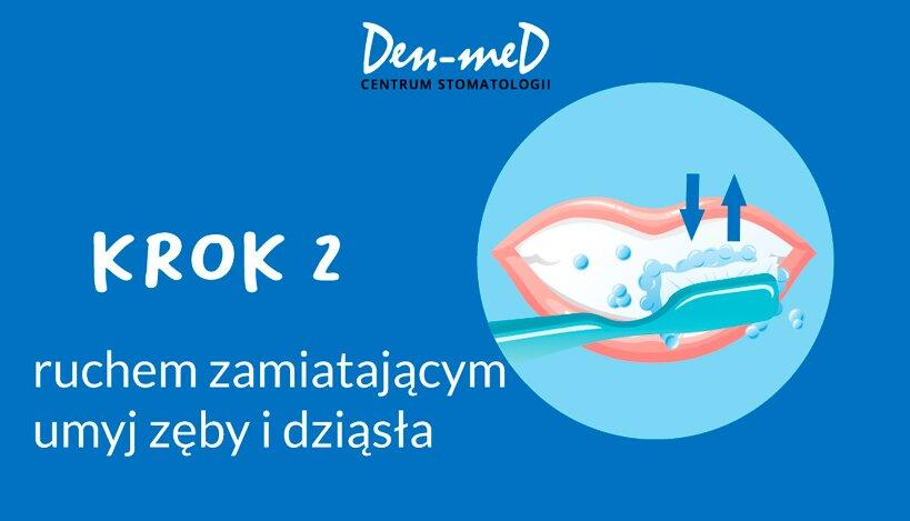 instrucja jak myć zęby